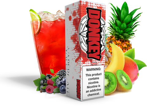 Vapergate - Donkey - 120ML Vape Juice - Plastic Bottle Tropical Fruit Punch