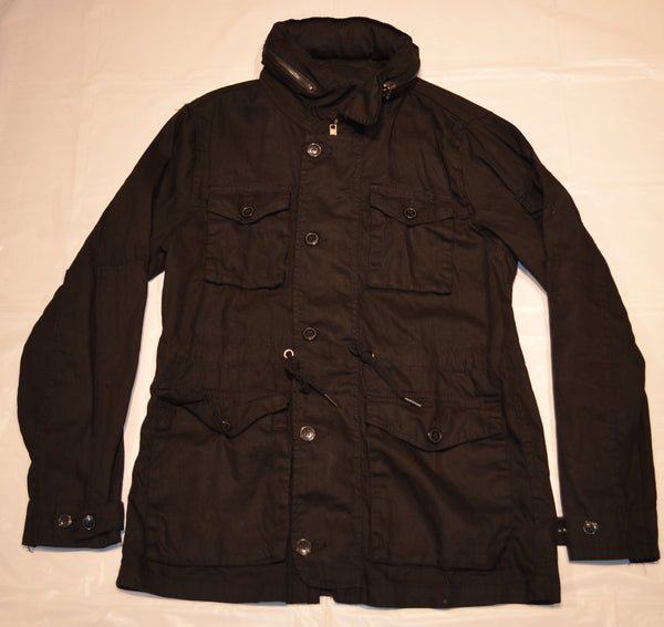 Jacket With Buttons and Zip - Black