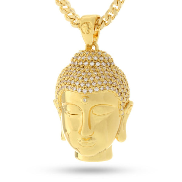 14K Gold Mini Buddha Necklace