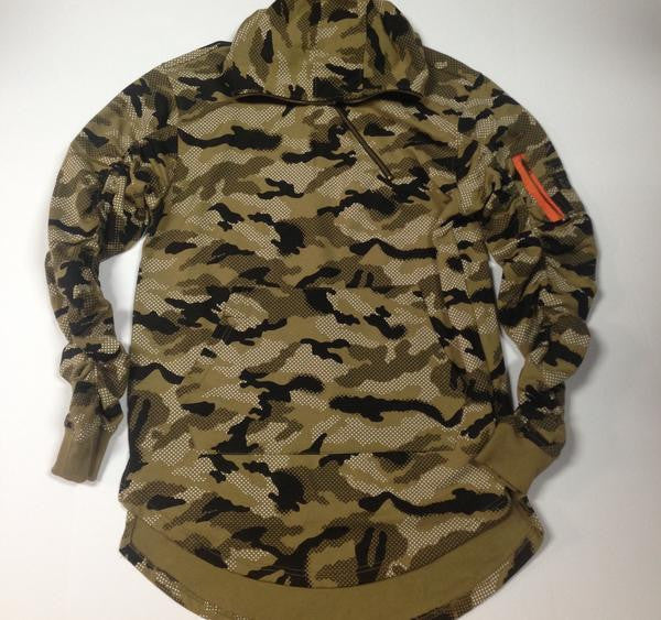 MA1 Pocket Long Sleeve Zip Hoodie - Camo