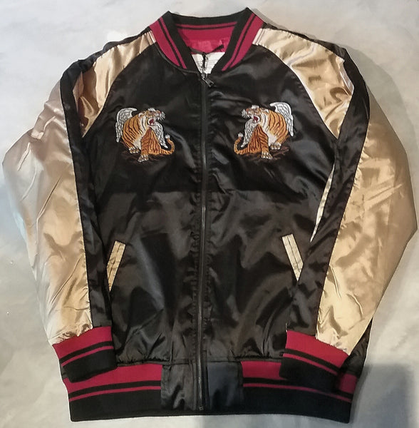 Satin Souvenir Jacket - Black