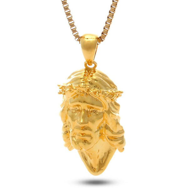 14K Gold Jesus Piece Necklace