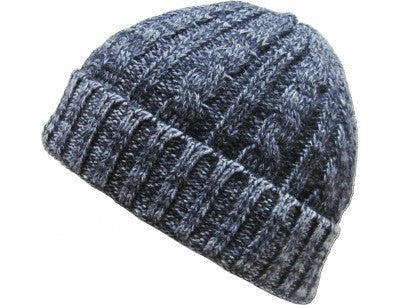 Thick Cable Beanie - Grey