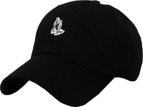Praying Hands Dad Hat - Black