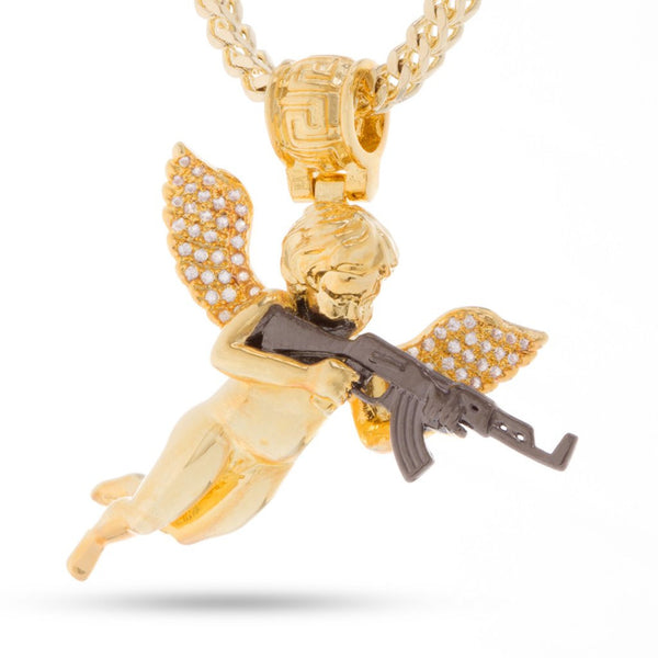14K Gold Archangel of Reprisal Necklace