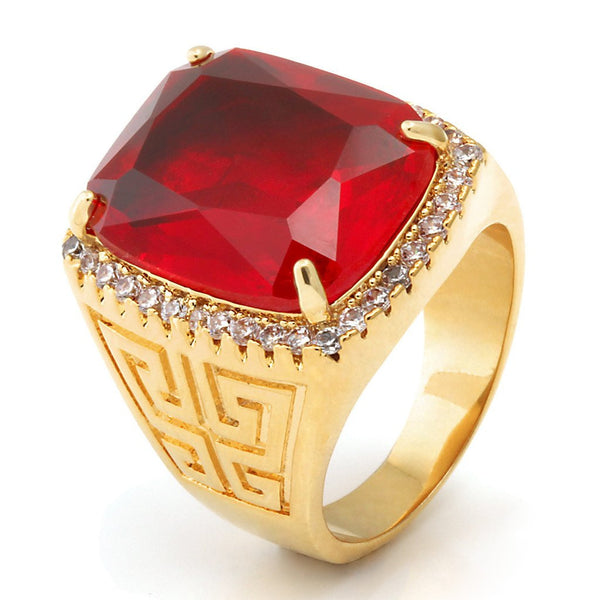 14K Gold Ruby Crown Ring