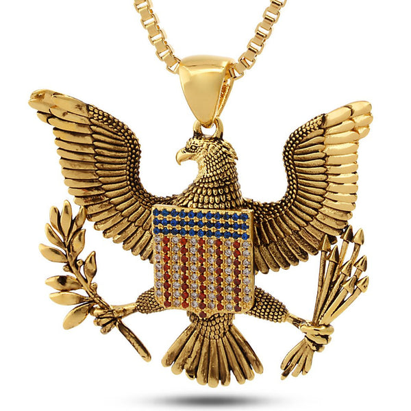14K Gold Great Seal Necklace