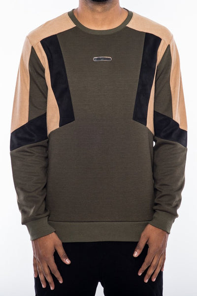 Dark Toned Crewneck - Olive