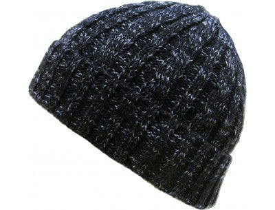 Thick Cable Beanie - Black