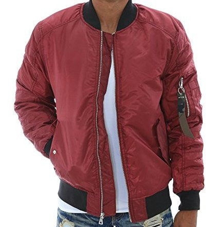 Bomber MA1 Flight Jacket - Red