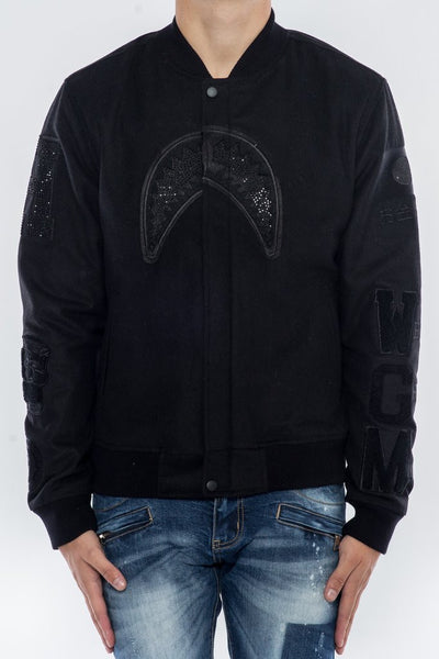 We Killed Ape Varsity Jacket - Black