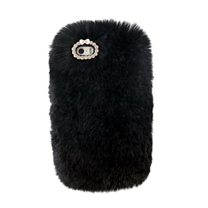 Black Fur Case for Iphone or Samsung