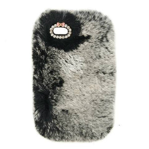 Gray Fur Case for Iphone or Samsung