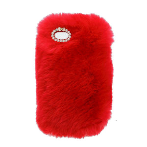 Red Fur Case for Iphone or Samsung