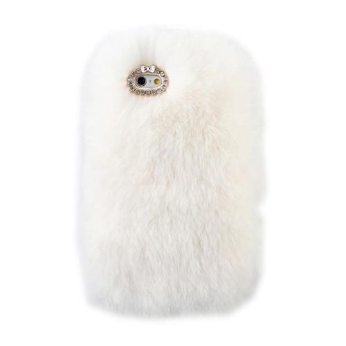 White Fur Case for Iphone or Samsung
