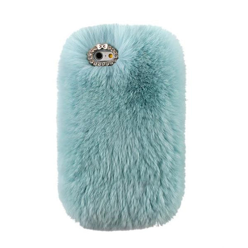 Mint Fur Case for Iphone or Samsung