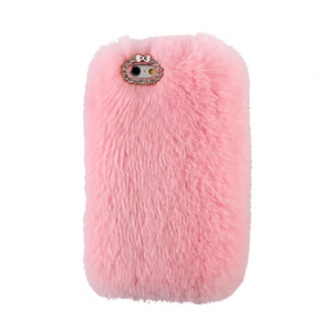 Pink Fur Case for Iphone or Samsung