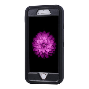 Iphone Black Heavy Duty Life Proof Built-in Screen Protector and Belt Clip Defender Case - All Models