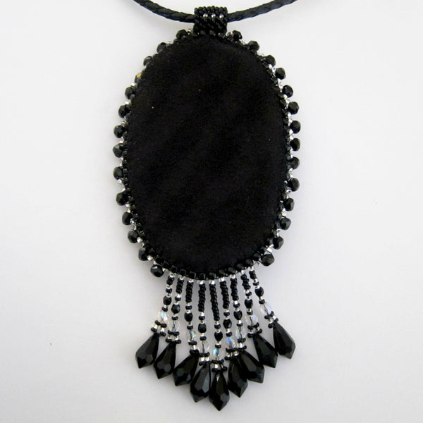 Silhouette Cameo Beaded Necklace by Susan Brackett Designs