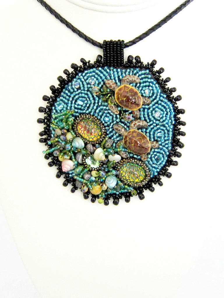 Turtle Reef Beaded Necklace by Susan Brackett Designs