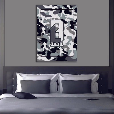 Arctic Camo Canvas Art