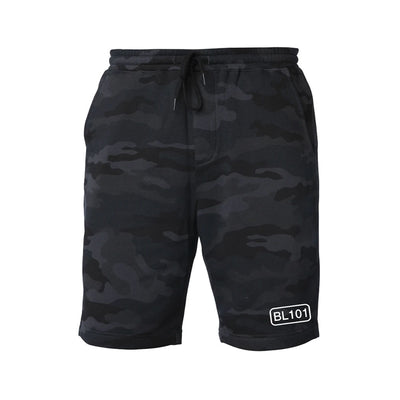 Black Camo Sweat Shorts