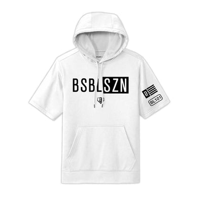 BSBL-SZN Youth Short Sleeve Hoodie V2 White