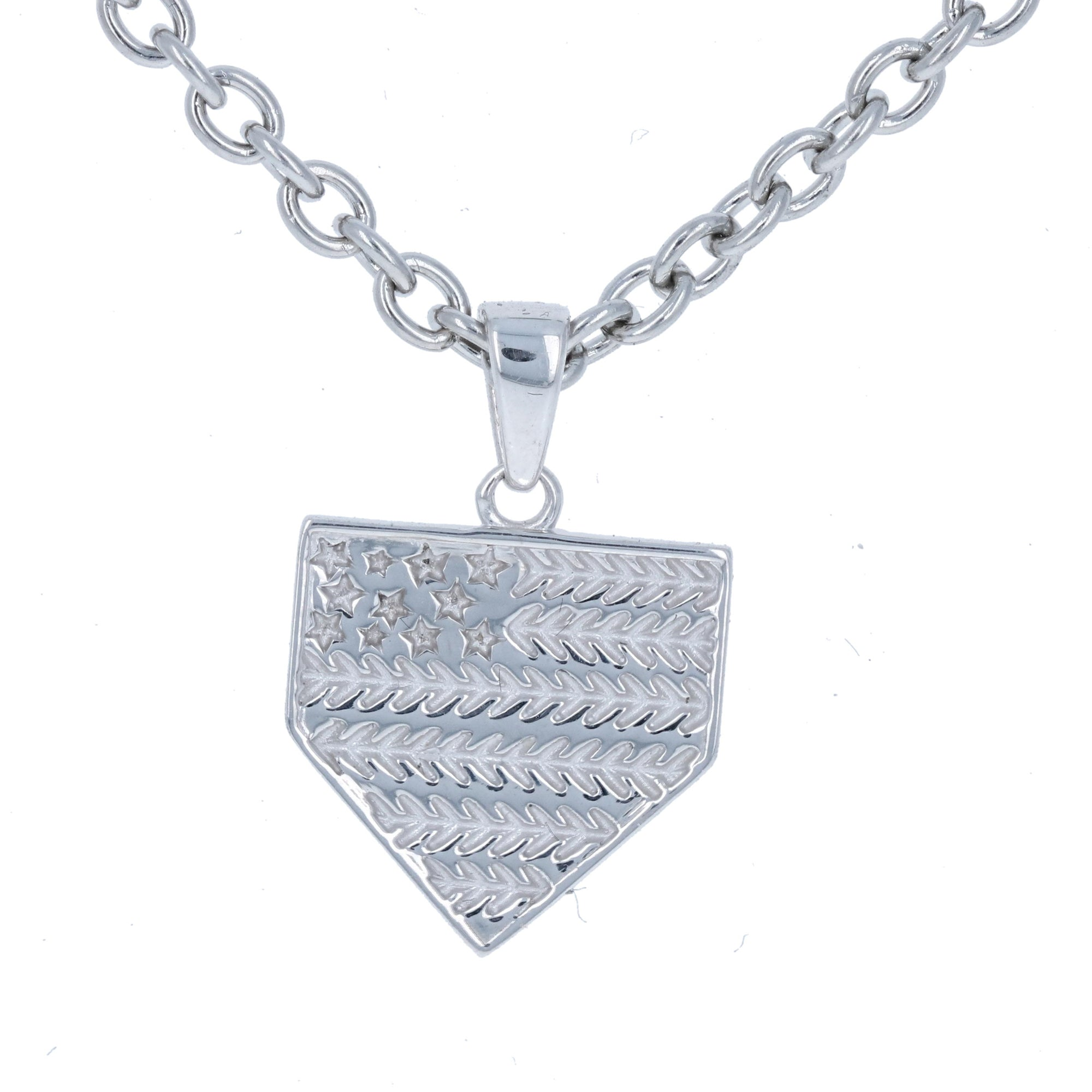 pendant necklace at steel in cross cfm sterling chain products detail silver mens with baseball jewelry stainless palmbeach