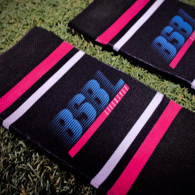 Close up of the BSBL design on socks