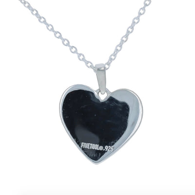 Baseball Heart Mom Pendant and Chain
