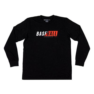 Black long sleeve with red and white X-Ray logo on front