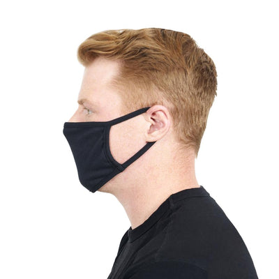Side view of face mask on model