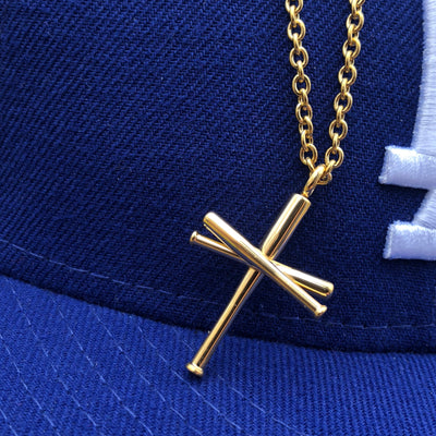 Gold Stainless Steel Original Bat Cross