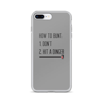 Never Bunt iPhone Case