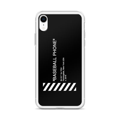 Black iPhone Case with Baseball Phone Text
