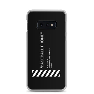 Black Samsung Case with Baseball Phone Text