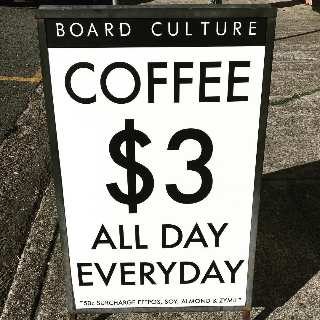 Grab a great coffee from the Espresso Bar - $3 everyday