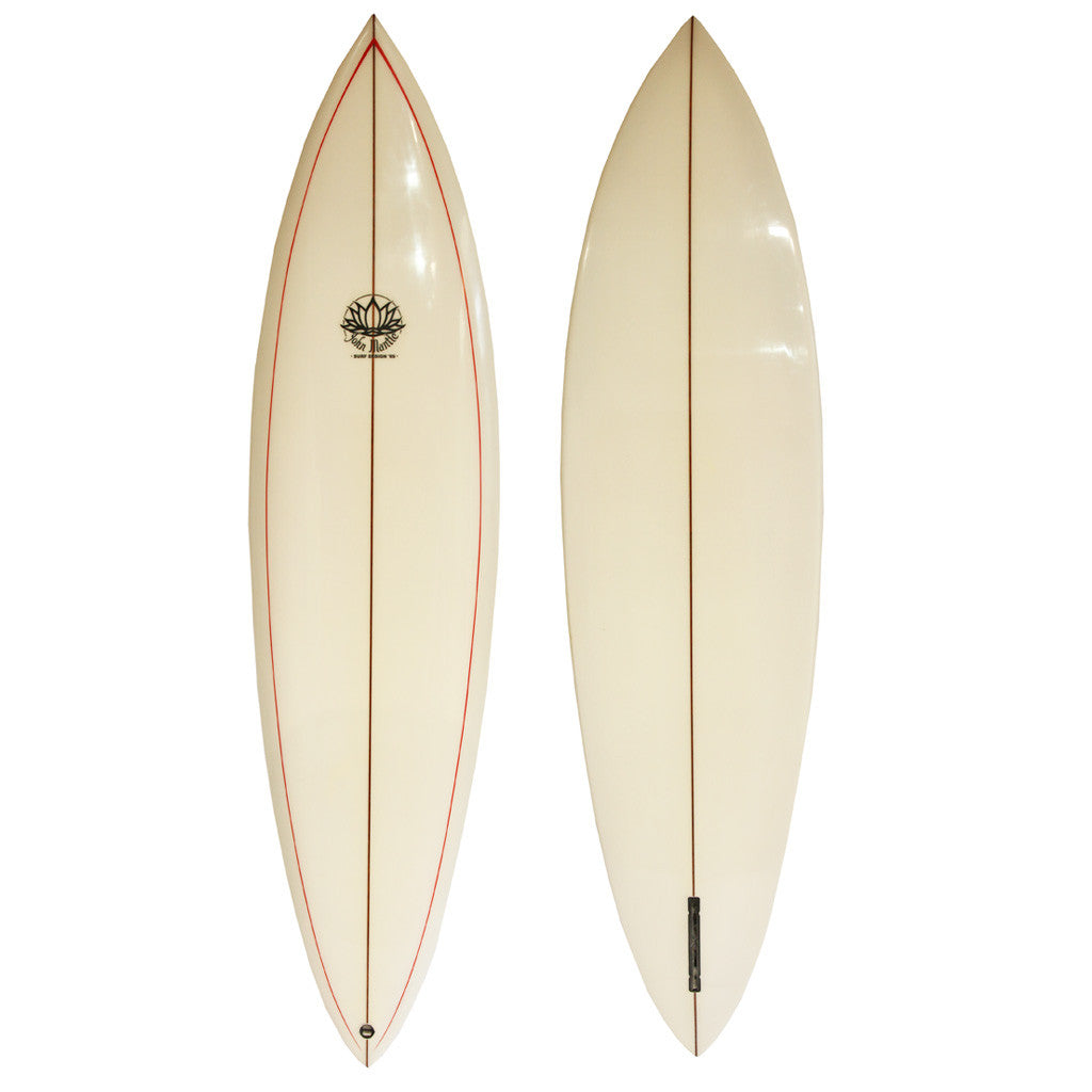 John Mantle Single Fin - 6'10 Red Pinstripe Channel Fin