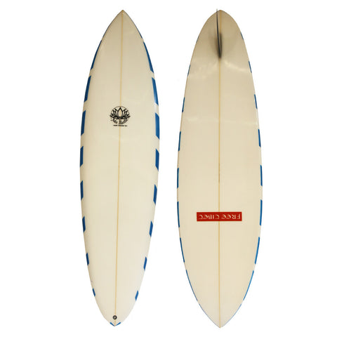 John Mantle Single Fin - 6'2 Blue Edge Fixed Fin