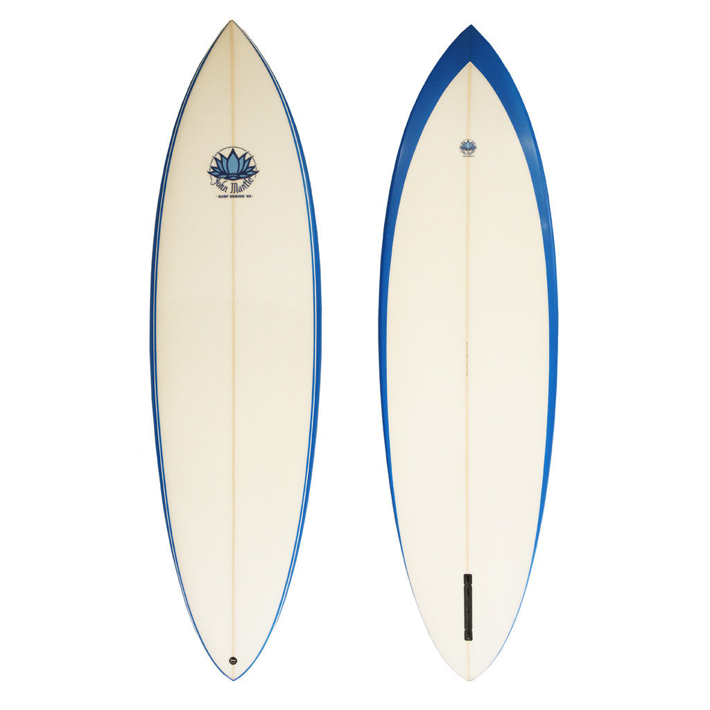 John Mantle Single Fin - 6'4 Blue Edge Channel Fin
