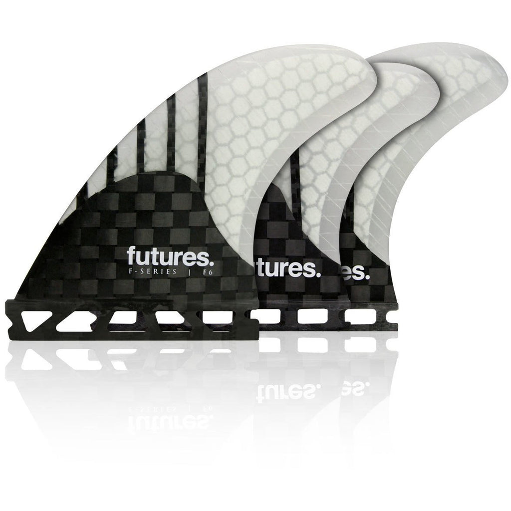 FUTURES F6 GEN SERIES WHITE FIVE FIN SET
