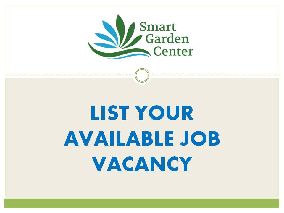 List your available job vacancy