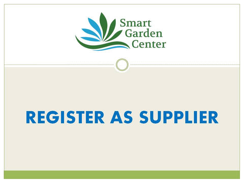 REGISTER AS SUPPLIER