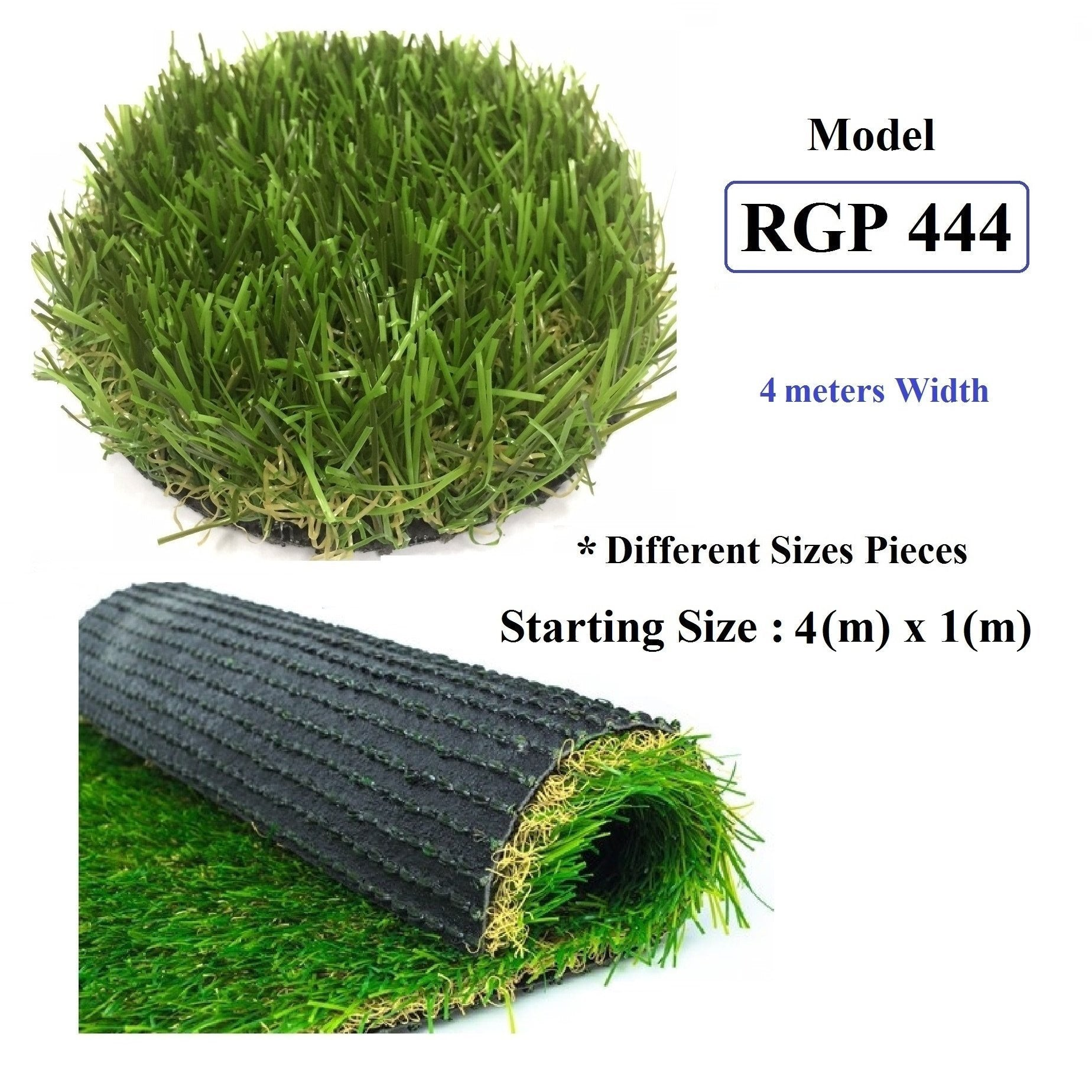 ResiGrass Artificial Grass RGP444 - 36mm - 4 meters ( Width ), SmartGardenCenter.com