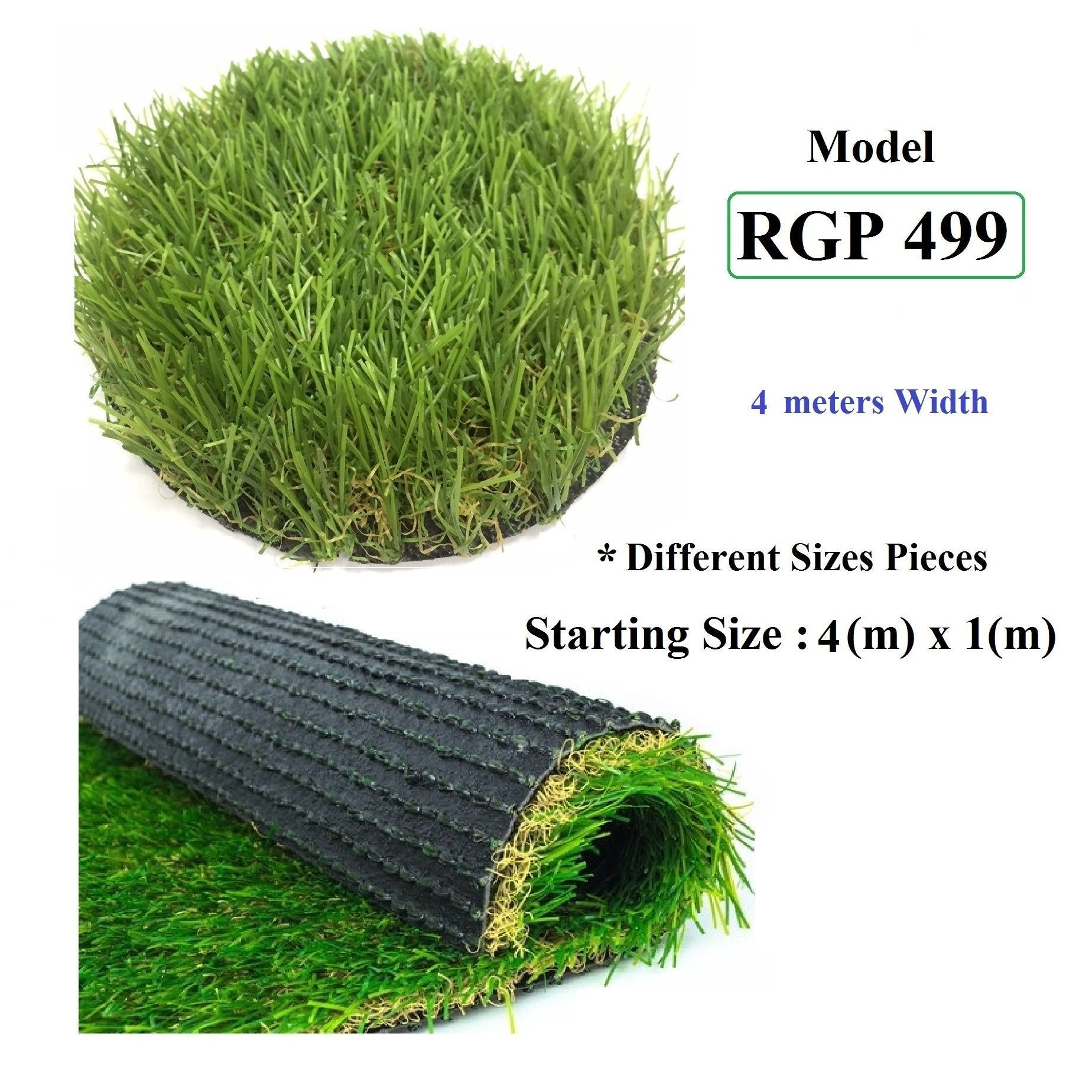 ResiGrass Artificial Grass RGP499 - 30mm - 4 meters (Width), SmartGardenCenter.com