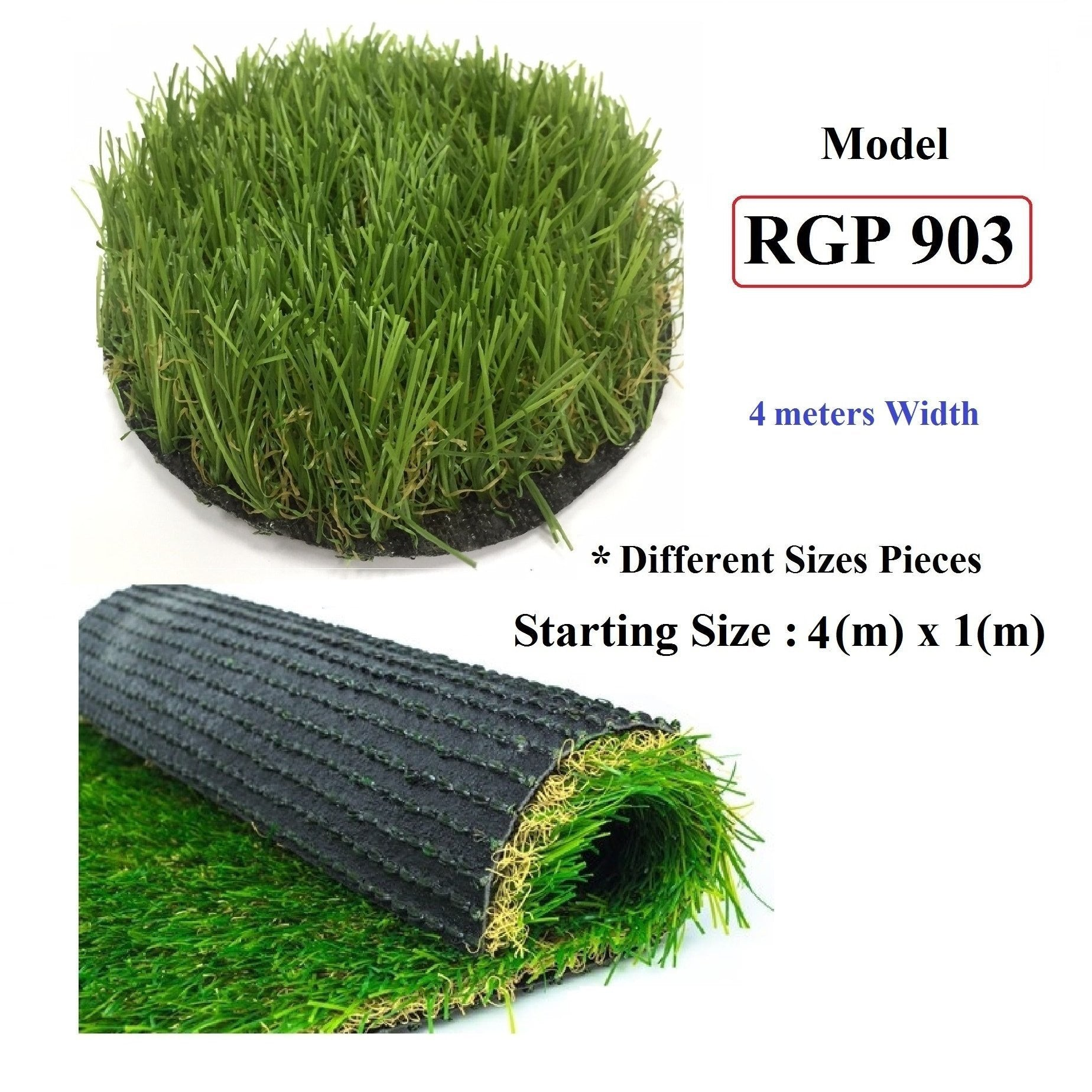 ResiGrass Artificial Grass RGP903 - 40mm - 4 meters ( Width ), SmartGardenCenter.com