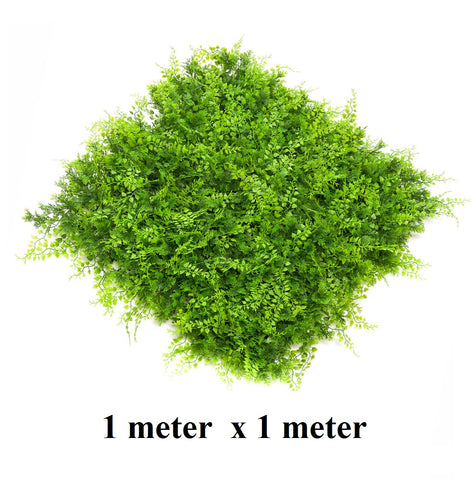 ResiGrass Artificial Green Wall, ResiLeaf Mixed - 1meter x 1meter
