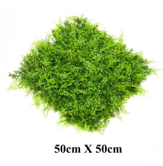 ResiGrass Artificial Green Wall, ResiLeaf Mixed - 50cm x 50cm
