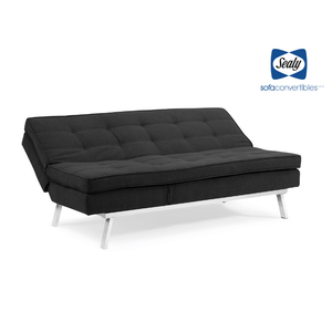 Lawrence Splitback Convertible with Chaise in Grey by Sealy - Futons 4 Less