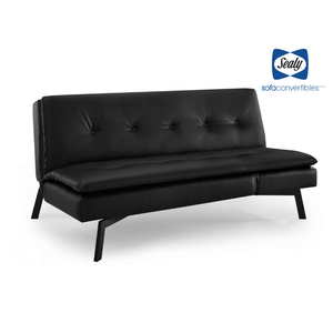 Savannah Sofa Convertible with Chaise in Midnight by Sealy - Futons 4 Less